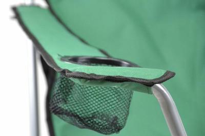 Divero Camping Stuhl Faltstuhl Angelstuhl dunkelgrün Kopfkissen Getränke robust – Bild 3