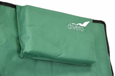Divero Camping Stuhl Faltstuhl Angelstuhl dunkelgrün Kopfkissen Getränke robust – Bild 5