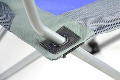 Divero Deluxe Campingstuhl blau grau Faltstuhl Angelstuhl gepolstert – Bild 4