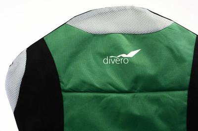Divero Deluxe Campingstuhl grün schwarz Faltstuhl Angelstuhl gepolstert – Bild 3