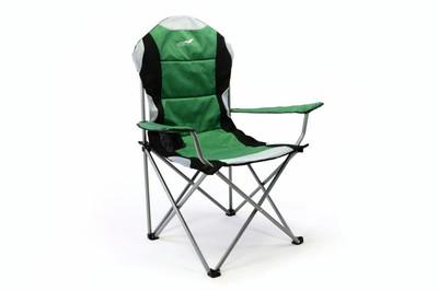 Divero 2er Set Deluxe Campingstuhl grün schwarz Faltstuhl Angelstuhl gepolstert – Bild 7
