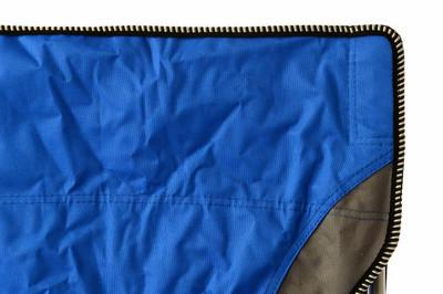 Campingstuhl Faltstuhl blau grau mit Armlehne Getränkehalter Angelstuhl – Bild 7