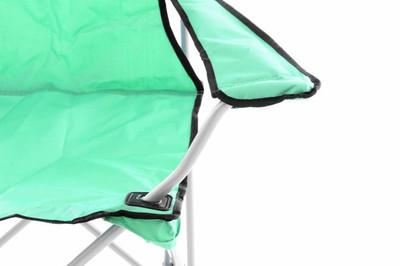 2er Set Campingstuhl Faltstuhl grün Armlehne Getränkehalter Angelstuhl 600D Oxford – Bild 3