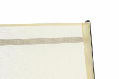 Klappstuhl Aluminium Gartenstuhl Campingstuhl Rahmen anthrazit Hochlehner Textilene creme – Bild 4