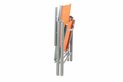 2er Set Klappstuhl Aluminium Gartenstuhl Alu Campingstuhl orange hochlehnig – Bild 2