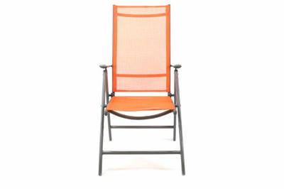2er Set Klappstuhl Aluminium Gartenstuhl Alu Campingstuhl orange hochlehnig – Bild 6