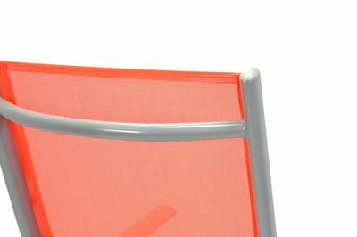 2er Set Klappstuhl Aluminium Gartenstuhl Alu Campingstuhl orange hochlehnig – Bild 7