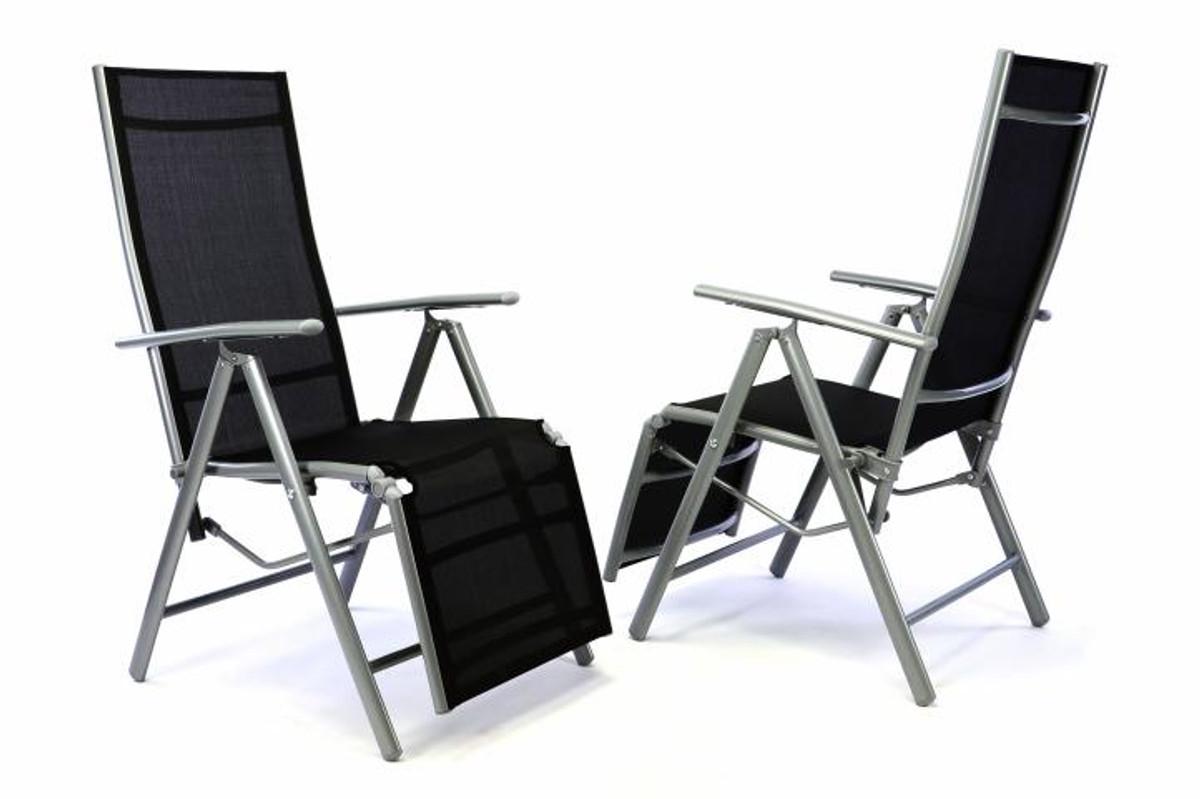 2er set alu liegestuhl klappstuhl mit fussst tze hochlehner sonnenliege klappliege relaxstuhl - Liegestuhl camping ...