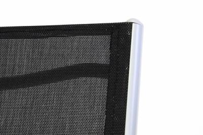 Alu Stahl Klappliege Textilene Sonnenliege Liegestuhl Campingliege schwarz Rahmen silber – Bild 7