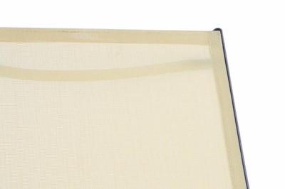 2er Set Klappliege Textilene Sonnenliege Liegestuhl Campingliege creme Rahmen anthrazit – Bild 4