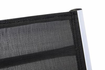 4er Set Deluxe Alu Stuhl extrabreit Klappstuhl Gartenstuhl verstellbar schwarz – Bild 4