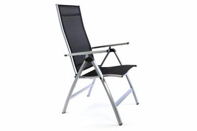 4er Set Deluxe Alu Stuhl extrabreit Klappstuhl Gartenstuhl verstellbar schwarz – Bild 7