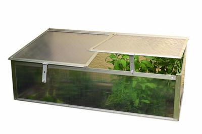 Garten Frühbeet Mini Gewächshaus Treibhaus Alu 108 x 55 x 41 cm 0,60 m² Planzkasten Pflanzbeet – Bild 1
