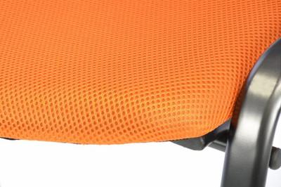 4er Set Konferenzstuhl Besucherstuhl orange Sitzfläche gepolstert stapelbar Büro – Bild 2