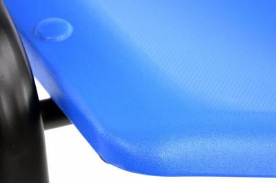 Besucherstuhl Konferenzstuhl Sitzfläche blau stapelbar Bürostuhl Kunststoff – Bild 3