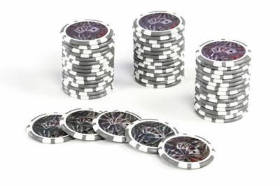 50 Poker Chips ABGERUNDETE KANTEN Wert 1 Casino – Bild 1