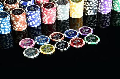 50 Poker Chips ABGERUNDETE KANTEN Wert 1 Casino – Bild 3