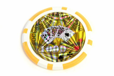50 Poker Chips ABGERUNDETE KANTEN Wert 1000 Casino – Bild 2