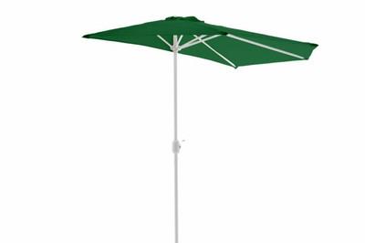 Sonnenschirm grün Balkon Schirm halbrund Gartenschirm Sonnenschutz 2,7m – Bild 2