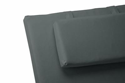 Liegen-Auflage Polster Kopfkissen für Sauna Garten Terrasse hochwertig anthrazit – Bild 2