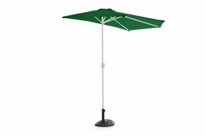 Sonnenschirm halbrund grün inkl Schirmständer und Schirmschutzhülle – Bild 2