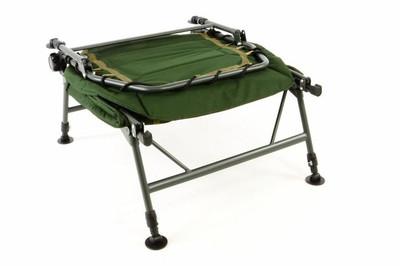 DIVERO - Profi Karpfenliege Campingliege mit 6 Schlammfüssen Angelliege grün oliv Bedchair – Bild 3