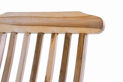 """DIVERO Liegestuhl Natur unbehandelt Deckchair """"Florentine"""" Steamer Chair mit Auflage hellgrau – Bild 5"""