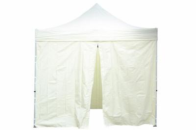 2 Seitenteile ohne Fenster PROFI Falt Pavillon 3x3 m champagner Polyester 180 g/m² Reissverschluss – Bild 5