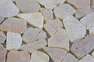 DIVERO 1 Matte 30x30cm Flusskiesel Flussstein Mosaik Fliesen Wand Boden creme – Bild 3
