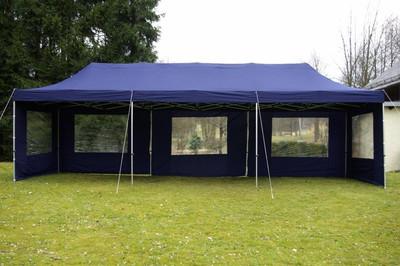 Falt Pavillon Ersatzdach 3x9m blau wasserdicht 270g/m² Dachplane – Bild 2