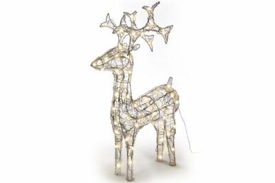 Rentier Acryl 120 LED Weihnachtsbeleuchtung Weihnachten Figur 100 cm warm weiss – Bild 5
