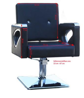 Frisierstuhl OLBIA schwarz – Bild 2
