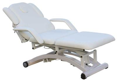 Massage,- und Kosmetikliege elektrisch weiss – Bild 1