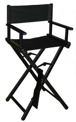 Klapp-Kinderfrisierstuhl schwarz – Bild 3