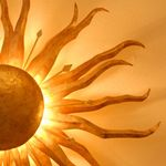 Deckenleuchte & Wandleuchte Sonne Ø 70 cm / gold patina – Bild 4