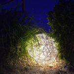 s.LUCE Mesh S LED-Drahtkugel Ø 30 cm / Innen & Aussen / warmweiss – Bild 3