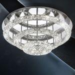 LED-Deckenleuchte / 72 W / Kristall / Ø 75 cm / Chrom – Bild 3