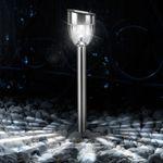 LED Fackel Solarleuchte Spiess 37,5 cm / Edelstahl – Bild 1