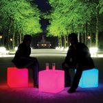 Akku LED Sitzwürfel Cube mit Farbwechsel IP54 – Bild 1