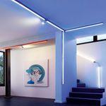 Q-LED Schienenleuchte (A) 50 cm mit Einspeisung inkl. Fb. / RGBW – Bild 3
