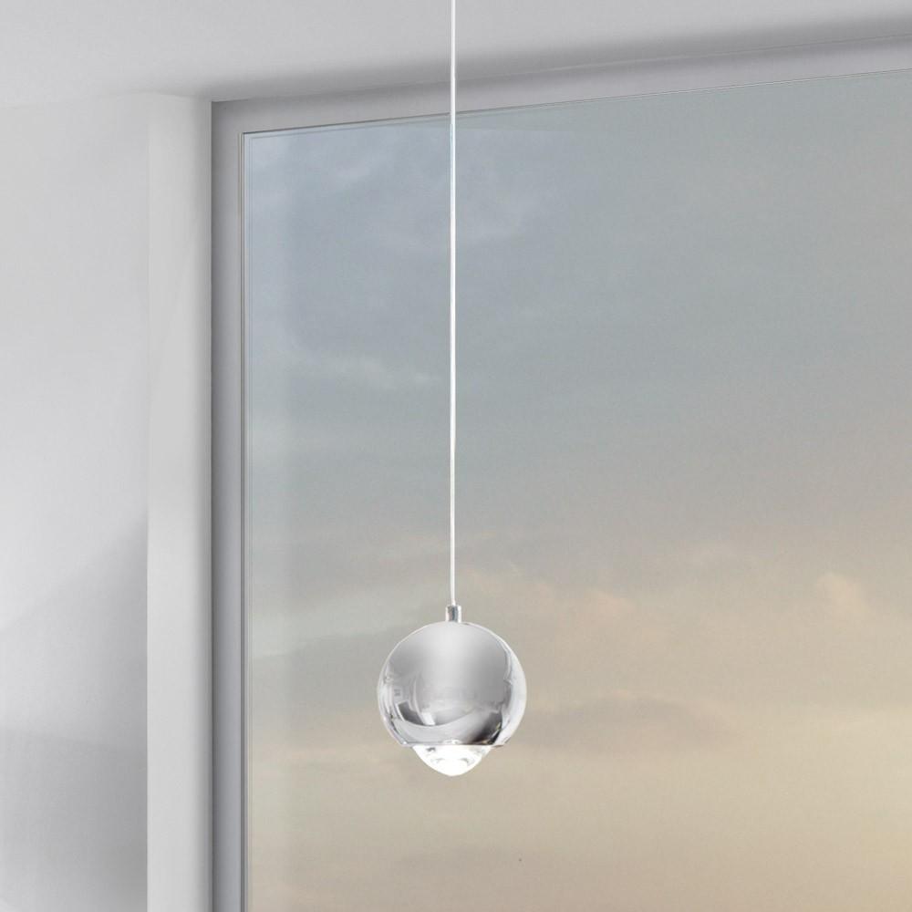 s luce beam led h ngeleuchte mit glaslinse 12 cm chrom 44957. Black Bedroom Furniture Sets. Home Design Ideas