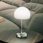 Gaia Tischleuchte mit Glasschirm & Touchdimmer / Verchromt – Bild 1