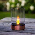 Premium LED Solar-Windlicht Kupfer / Ø 9cm – Bild 1