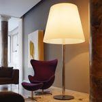 FontanaArte Amax Stehleuchte XXL 238 cm / Chrom weiss – Bild 1