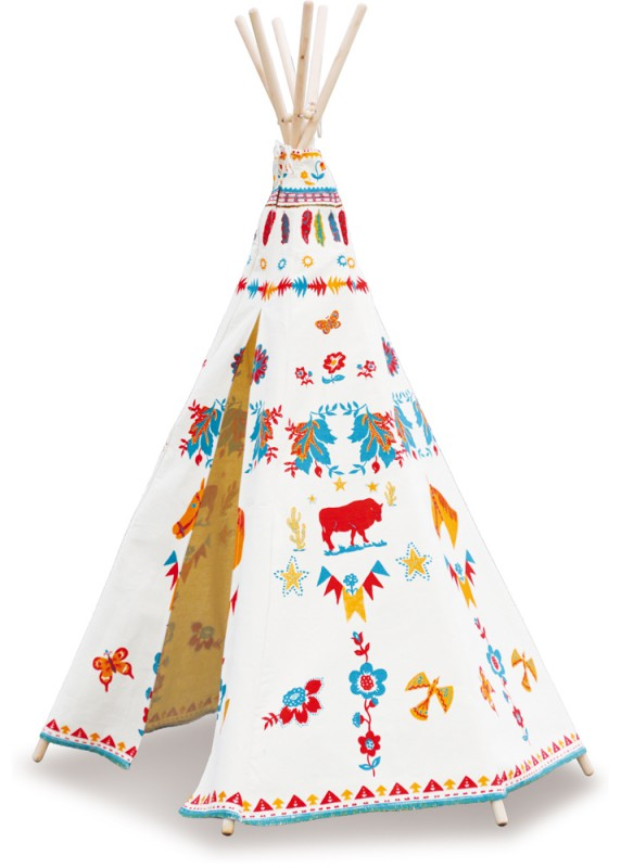 kinderspielhaus wundersch nes indianerzelt tipi von vilac. Black Bedroom Furniture Sets. Home Design Ideas