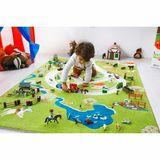 Wunderschöner 3D Spielteppich und Kinderteppich Bauernhof und Landschaft, in 3 Größen erhältlich