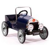 Kinderautos aus Metall, Retro Tretauto  Klassik , in blau, von Baghera