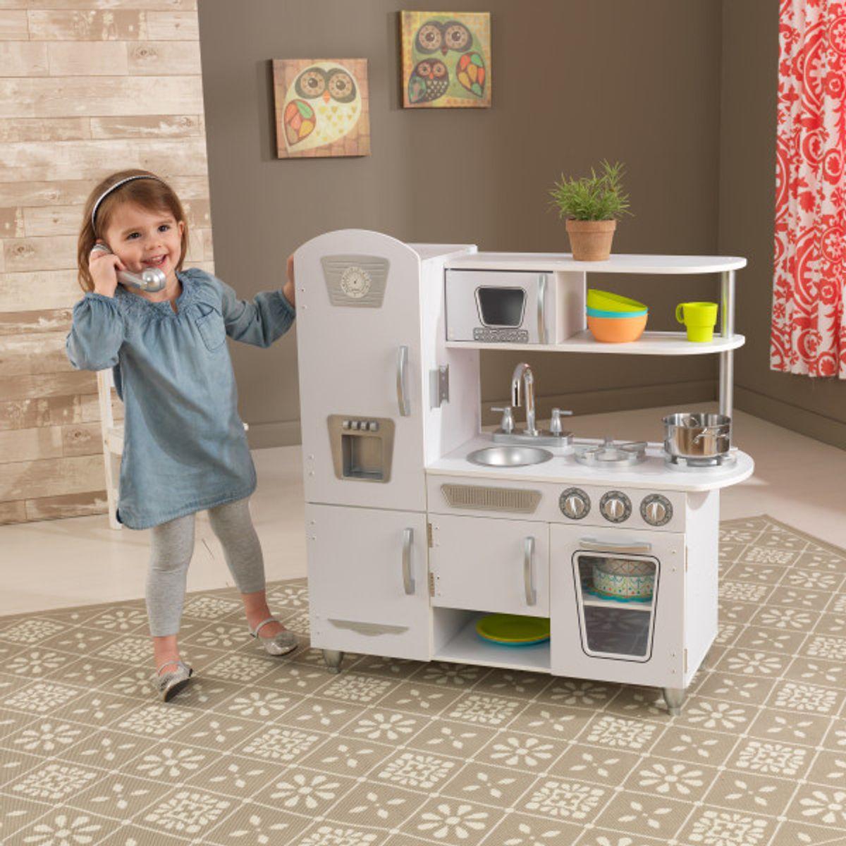 Tolle weisse Retro Spielküche für Jungen und Mädchen, von KidKraft
