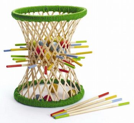 Ausgefallenes Geschicklichkeitsspiel aus Bambus,  Pallina , 38 Teile, von Hape