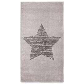 Zeitloser Kinderteppich mit Stern, Lucero grau, 100% Polypropylen, Ökotex 100 zertifiziert, 80 x 150 cm, von Nattiot